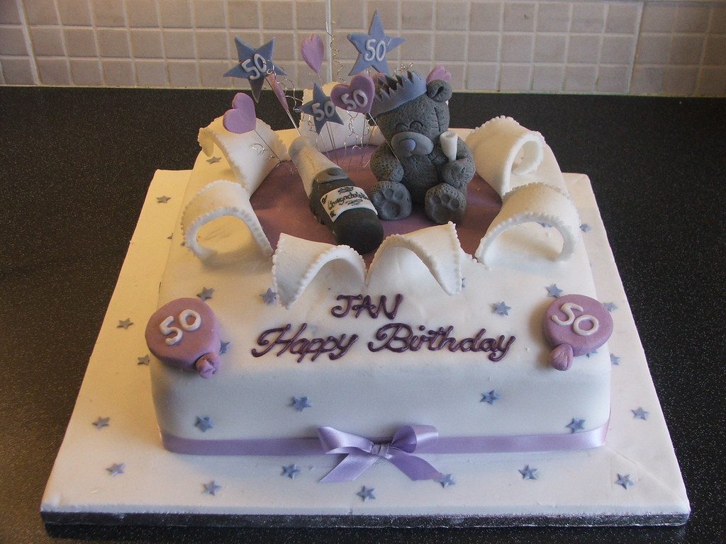 Me To You 50th Birthday Cake