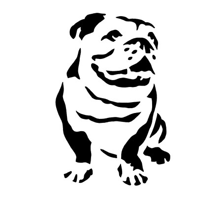 Bulldog Stencil From Me Brightly Flickr Photo