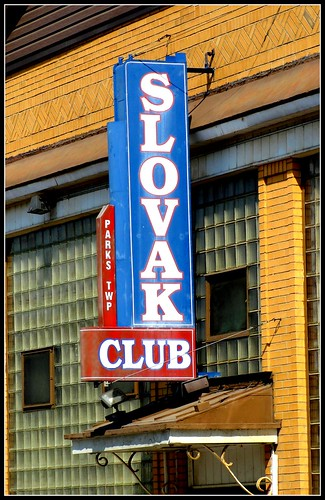 signs club vintage pennsylvania parks facades armstrong organization glassblock slovak twp pa66 erjkprunczyk northvandergrift