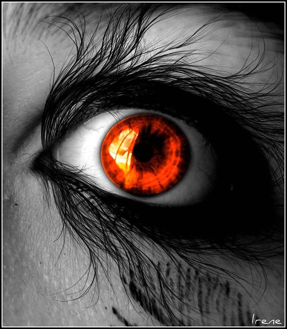 Orange eye