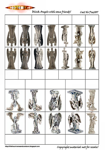 Cardstock - Paz087 - Doctor Who Weeping Angels-PaZZa