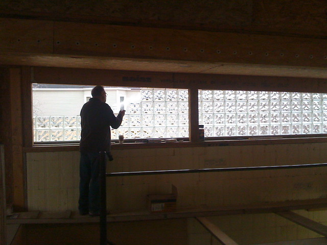 Glass window installing a glass block window for Glass block r value