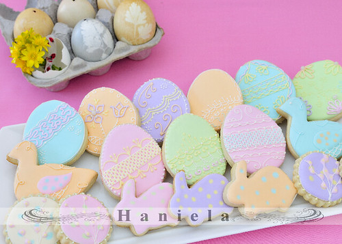 Easter Cookies with a pastel flare