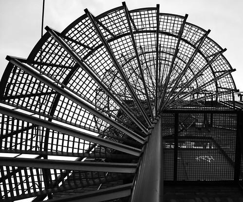 stairs circle sweden stairway round norrköping östergötland industrilandskapet