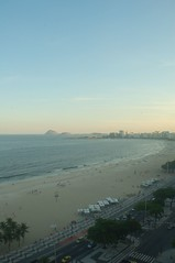 Copacabana beach at sunset, looking south