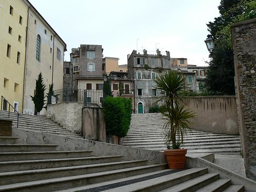 Church square in Tivoli (Italy 2010)