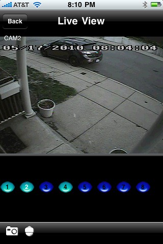 iPhone security camera/dvr client