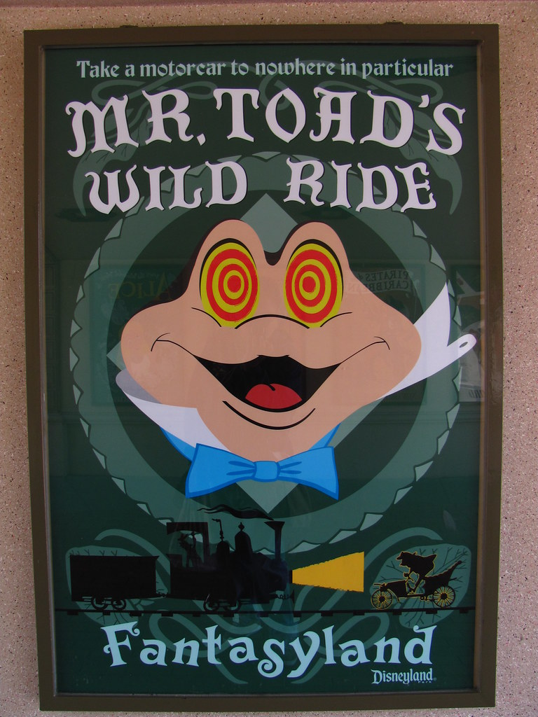 Mr. Toad's Wild Ride Poster at the Entrance Tunnel to Main Street USA
