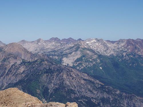 Cottonwood Ridge from the summit of Mount Timpanogos.