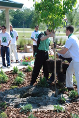 Oceanway Middle School on Earth Day with new outdoor classroom