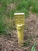 Gas Line Marker in Letcher County, Kentucky