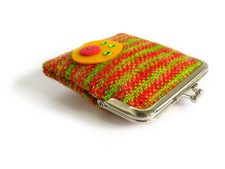 Linen Stitch Coin Purse