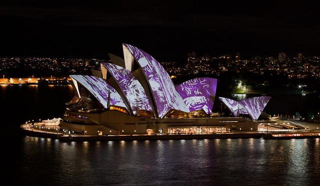 Sydney Opera House  During Vivid 2010