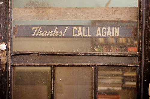 Thanks! CALL AGAIN
