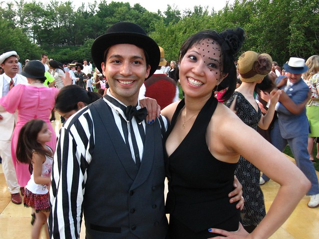 Dancers at BBG Members' Centennial Evening. Photo by Rebecca Bullene.