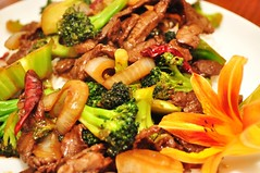 Mmm... broccoli beef in hoisin sauce