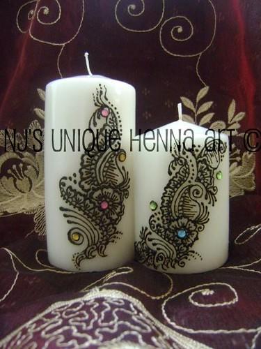 Mehndi Henna Candles : Henna on candles makedes