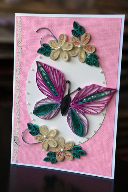 quilled butterfly handmade greeting card  explore