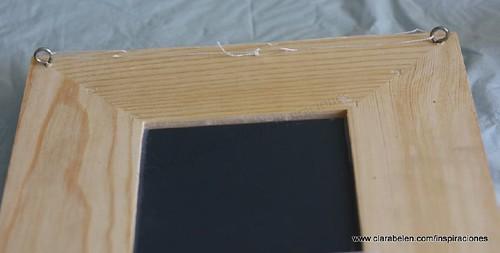 Inspiraciones manualidades y reciclaje pr ctico marco for Como hacer un espejo con marco de madera