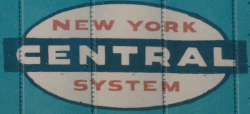 New York Central Railroad cigar band logo. Used from the late 1950's until the 1968 merger with the Pennsylvania Railroad that created the Penn Central Railroad. From the internet. by Eddie from Chicago