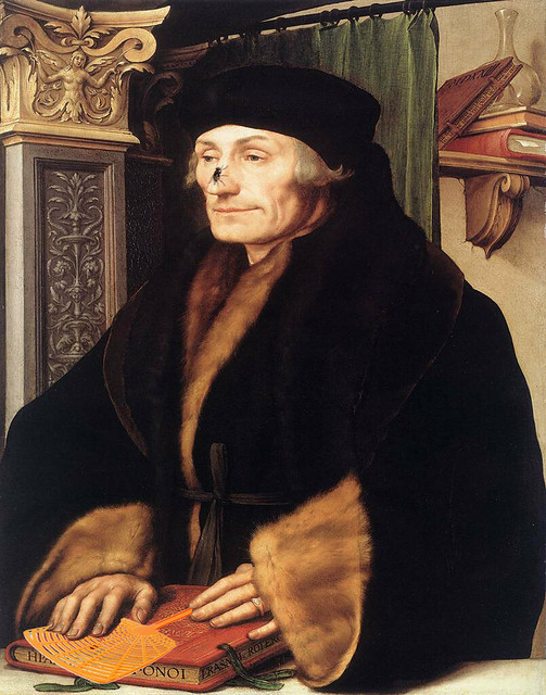 Desiderius Erasmus of Rotterdam with Fly and Fly Swatter (Hans Holbein-Stewart Cherlin) 1-1 11x14