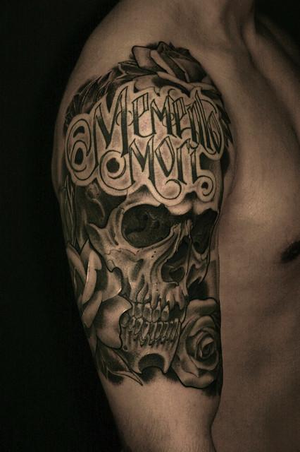 4718378689 73892d974c z jpgMemento Mori Skull Tattoo