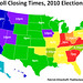 Poll Closing Times, 2010 Elections by TheElectoralMap.com