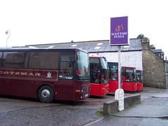 Smiths Central Coaches, line up at the Keith Depot