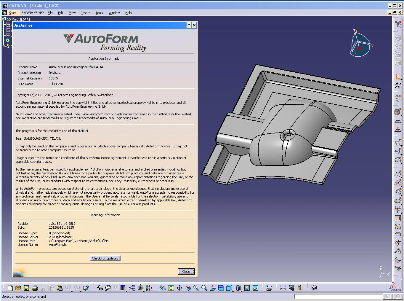 Design with AutoForm^Plus R4 in CATIA full