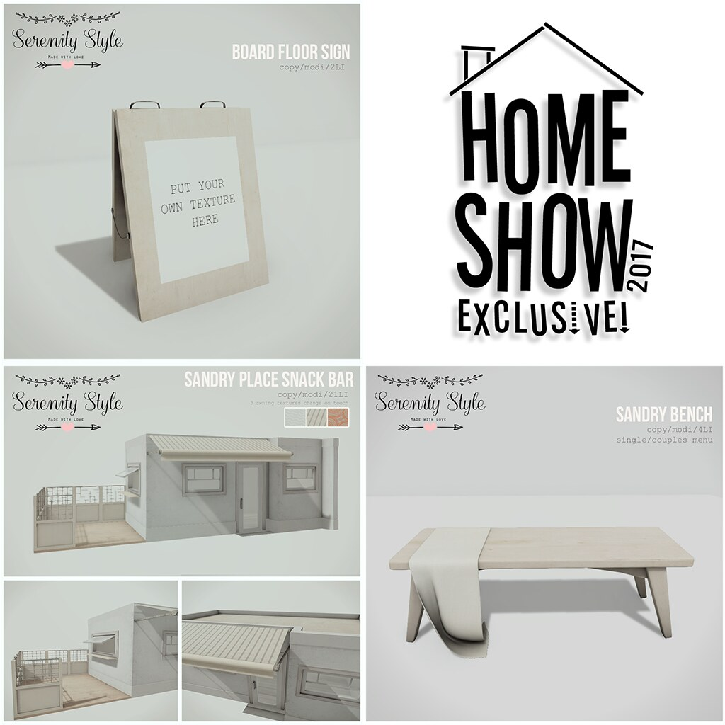 Serenity Style exclusive for The Home Show 2017 - SecondLifeHub.com