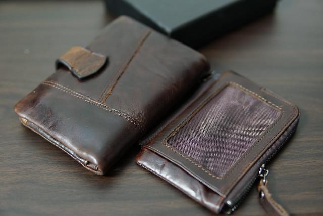 DZET 二つ折り 財布 本革 牛革 メンズ ラウンドファスナー 小銭入れ 免許証入れ カード8枚収納 コンパクト 柔らかい