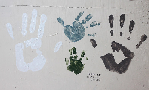 2nd January - handprints on the wall