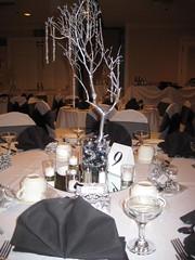 New Years Eve Black & White Wedding