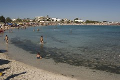 Spiaggia affollata a Porto Cesareo