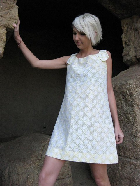 shift twiggy lace yellow white mini ...