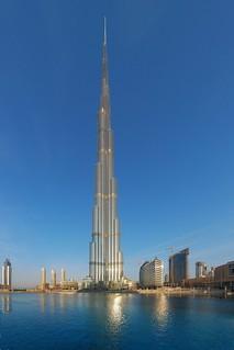 Burj Khalifa under sunrise