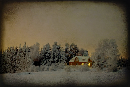 trees winter sunset house snow tree texture home canon suomi finland landscape evening countryside farm textures talvi 2009 koti lappeenranta 50d skeletalmess