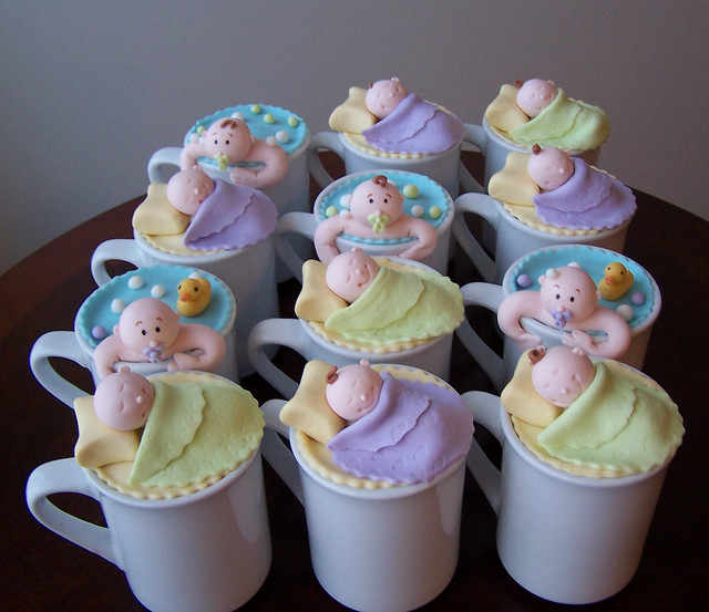 Cake In A Mug For A Baby Shower