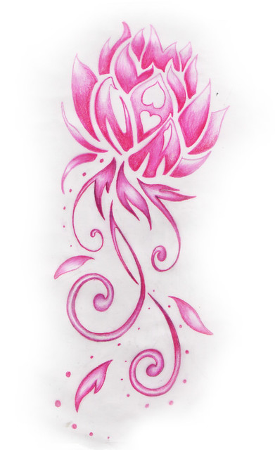 pink lotus flower design