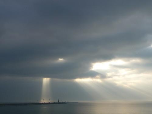 sky cloud sun sunrise nuvole alba cielo sole azzurro luce celeste gargano foggia manfredonia celestiale