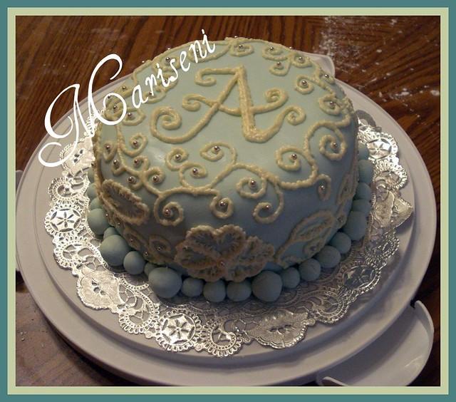 Cool Monogram Birthday Cake Friends Birthday Cake Covere Flickr Birthday Cards Printable Opercafe Filternl