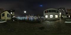Heir-Steg walkway by night