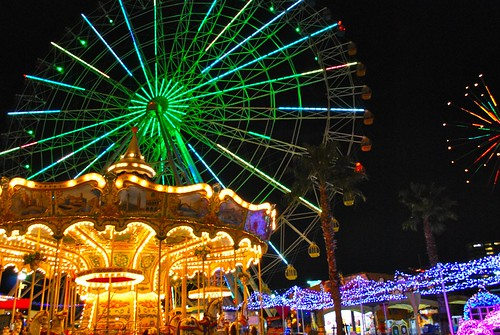 Amusement park of winter