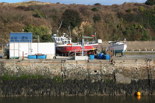 Hayle Harbour, boats waiting for the spring by Stocker Images