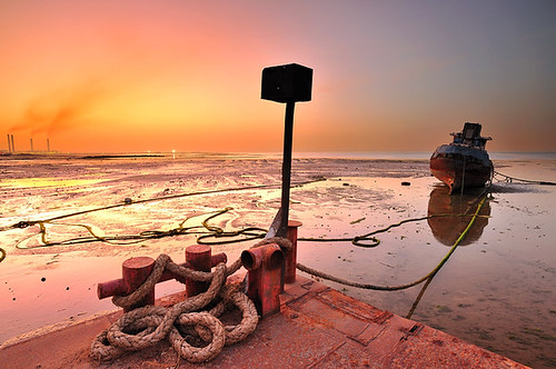 Kuwait - Low tide Sunset