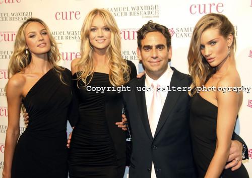 Victoria Secret Models Candice Swanepoel, Lindsay Ellingson, Michael Nierenberg and Victoria Secret Model Rosie Huntington-Whiteley