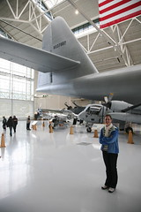 Amanda in front of Spruce Goose, Evergreen Aviation Museum, McMinnville, Oregon