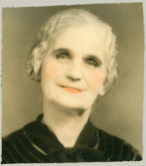 hand tinted portrait lady
