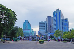 Silom seen from Lumphini Park in Bangkok, Thailand
