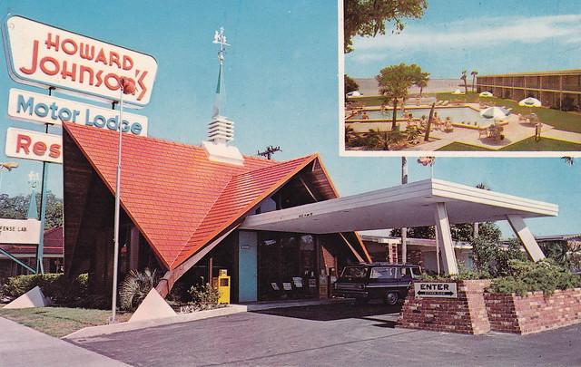 Vintage Postcard Howard Johnson 39 S Motor Lodge Panama